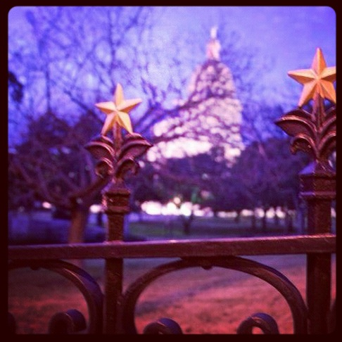 The Lone Star state's Capitol building.